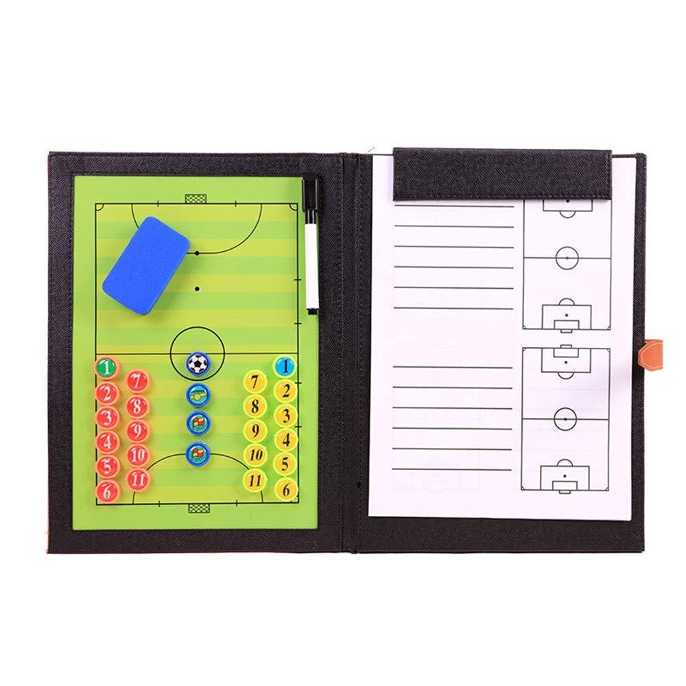 Tavola magnetica da calcio calcio Bordo di indicatore di calcio riscrivibile di comandante pieghevole del bordo tattico di calcio del bordo 5-a-side del PVC messo con la penna e lo strato della regi