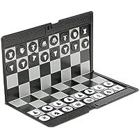 Fovolat | Juego de ajedrez Internacional de 20 17 0,5 cm - Pieza de ajedrez magnética - Plegable