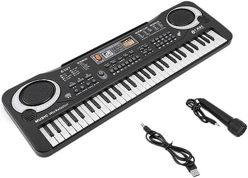 Yililay 61 Teclas de música Digital de Juguete de Regalo teclados electrónicos Consejo Piano eléctrico, Teclado
