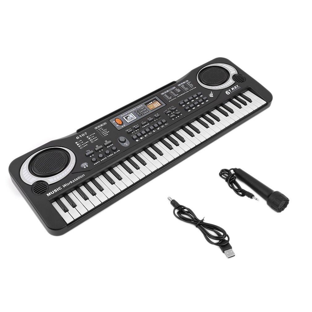 Teclado electrónico digital de 61 teclas Ulable, juguete de regalo de piano eléctrico: Amazon.es: Instrumentos musicales