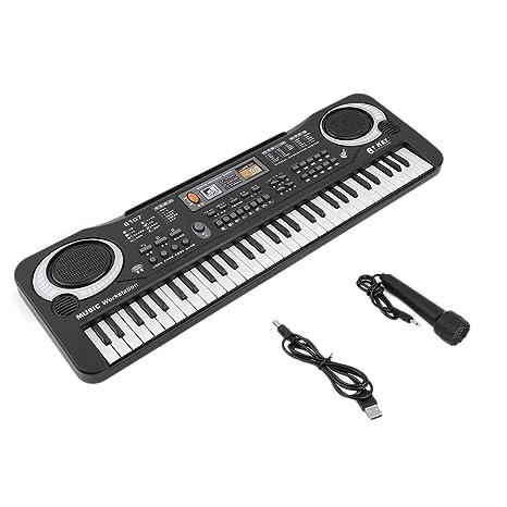 Yililay 61 Teclas de música Digital de Juguete de Regalo teclados electrónicos Consejo Piano eléctrico,
