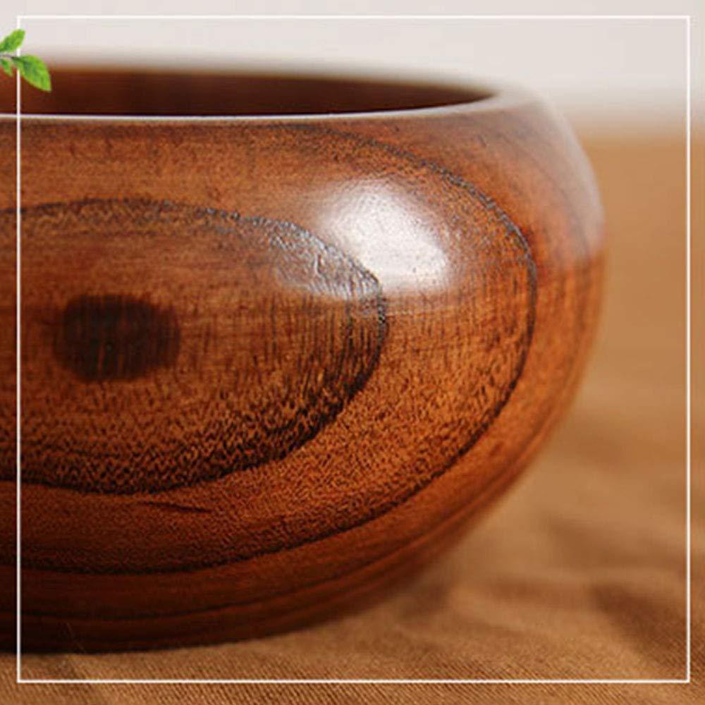 INFILM ciotola per lavoro a maglia e uncinetto con coperchio 16 * 7 cm Come mostrato Porta ciotola in legno con foro