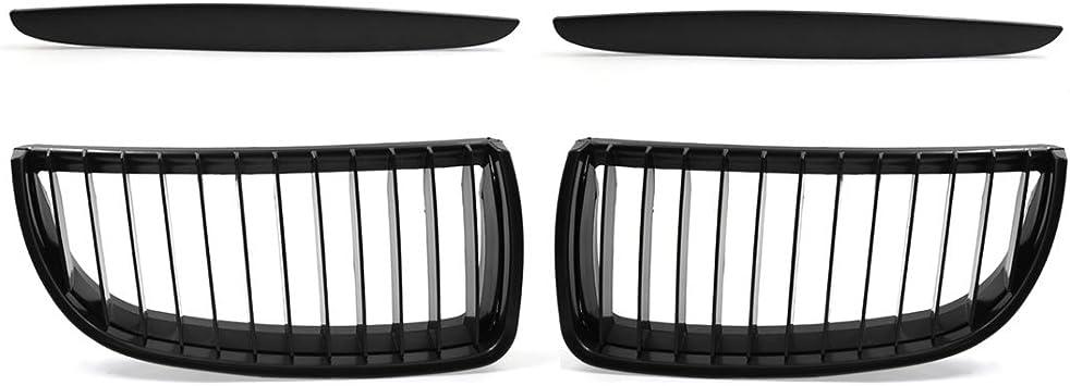 Pair i-Shop 2005-2008 E90 E91 320i 323i 328i 335i Glossy Black Sport Kidney Double Line Front Grille Grills