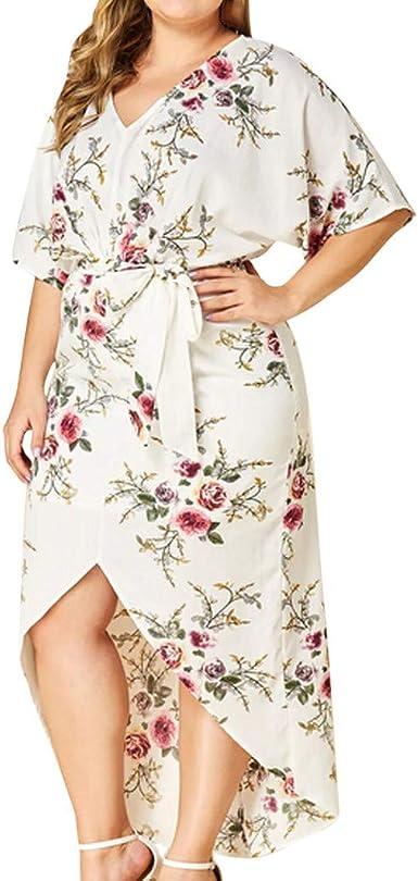 Robe femme taille 46 48 50 52 54 grande taille robes maxi fleurs dentelle 137