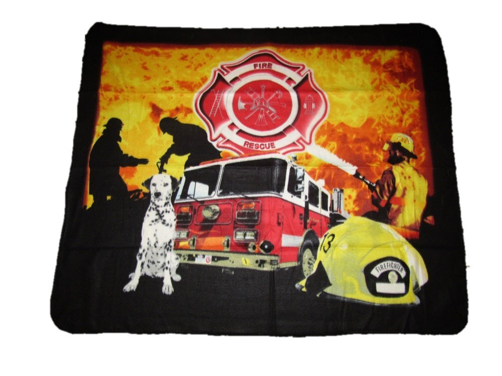 Fire Dept。部門Rescue Fighterトラック犬ヘルメットメンズ50 x 60 Polar Fleece Blanket Throw B01MU31RH7
