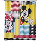 Mickey Mouse And Friends Fabric Shower Curtain