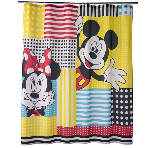 Jumping Beans Mickey Mouse and Friends Fabric Shower Curtain