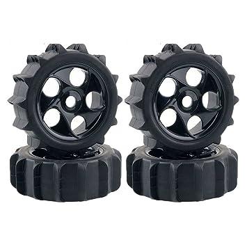 LAFEINA RC 1/8 Escala RC Off Road Buggy nieve arena pala neumáticos neumáticos y ruedas 4 pcs: Amazon.es: Juguetes y juegos