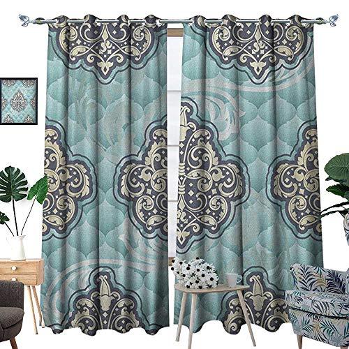 Warm Family Victorian Room Darkening Wide Curtains Rococo St