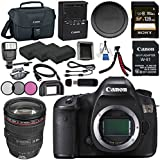 Canon EOS 5DS 5D S DSLR Camera + Canon EF 24-105mm f/4L IS USM Lens 0344B002 + LPE-6 Lithium Ion Battery + Sony 128GB SDXC Card + Canon W-E1 Wi-Fi Adapter + 72mm 3 Piece Filter Kit Bundle