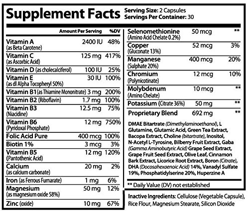 Cognifen Memory Support, mental flexibility and enhanced life-long cognitive ability for faster learning, increasing focus, and reducing stress – DMAE, 60 capsules (1)