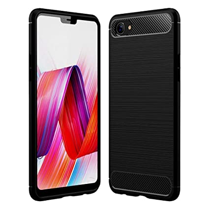 wholesale dealer c974f b85d7 Spazy Case Brushed Armor Shock Proof Soft TPU Back Cover Case for Realme 1,  Black