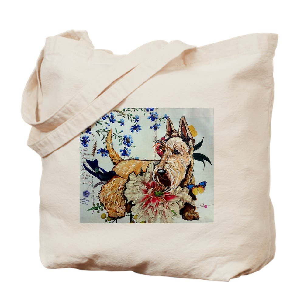 CafePress – Garden Wheaten Scottie – ナチュラルキャンバストートバッグ、布ショッピングバッグ B00WJEM2EW