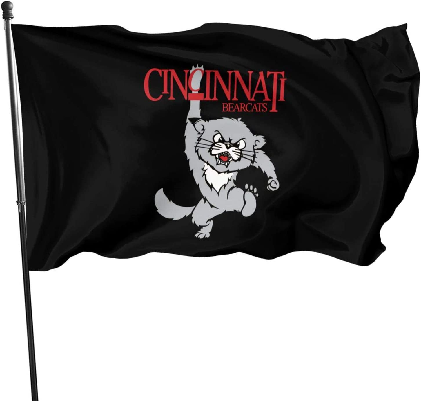 Guwafa8 CIN-CIN-NATI Bear-Cats Seasonal Garden Flag Set for Outdoors Easter Flag Banner 3x5 Feet