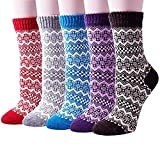 Pack of 5 Womens Vintage Style Thick Wool Warm
