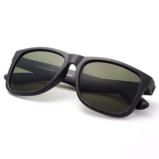 4265f0e4860 Amazon.com  Square Polarized Memory Frame Sunglasses Unisex Driving ...