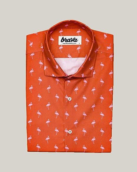 Brava Fabrics Camisa Magnum Flamingo - Algodón Orgánico ...