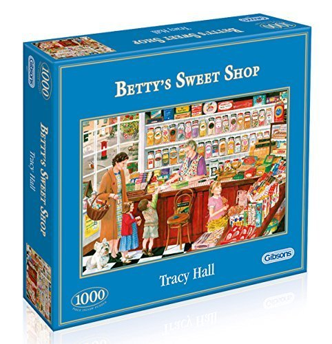 Gibsons Betty's Sweet Shop Jigsaw Puzzle (1000 Pieces) by Tracy Hall (Nostalgia theme)