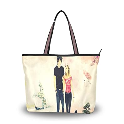 cb9faf0914a0 Large Tote Bags 3Dove Couple Wallpaper Waterproof Portable Organizer ...