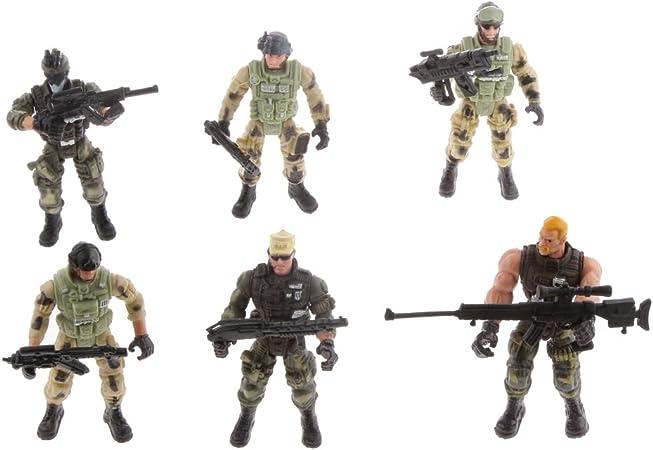 Desconocido Modelo de 6 Policías Juguete de Soldados Juego de Militar de Acción para Niños: Amazon.es: Juguetes y juegos