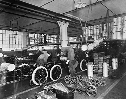 Ford Assembly Line C1913 Nworkers Installing Gas Tanks At The Assembly Line At The Ford Automobile Plant In Highland Park Michigan C1913 Poster Print by (24 x 36)