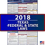 2018 Texas Employment Labor Law Poster - State & Federal Compliant - OSHA Compliant