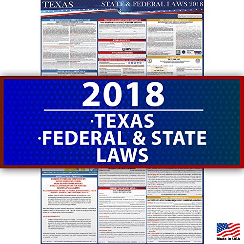 2018 Texas Employment Labor Law Poster - State & Federal Compliant - OSHA Compliant by Compliance Audit Center