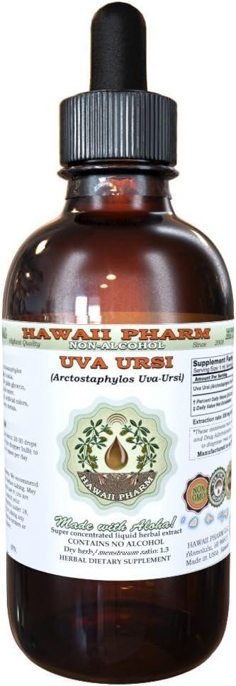 Uva Ursi Alcohol-Free Liquid Extract, Organic Uva Ursi (Arctostaphylos Uva-Ursi) Dried Herb Glycerite 2 oz