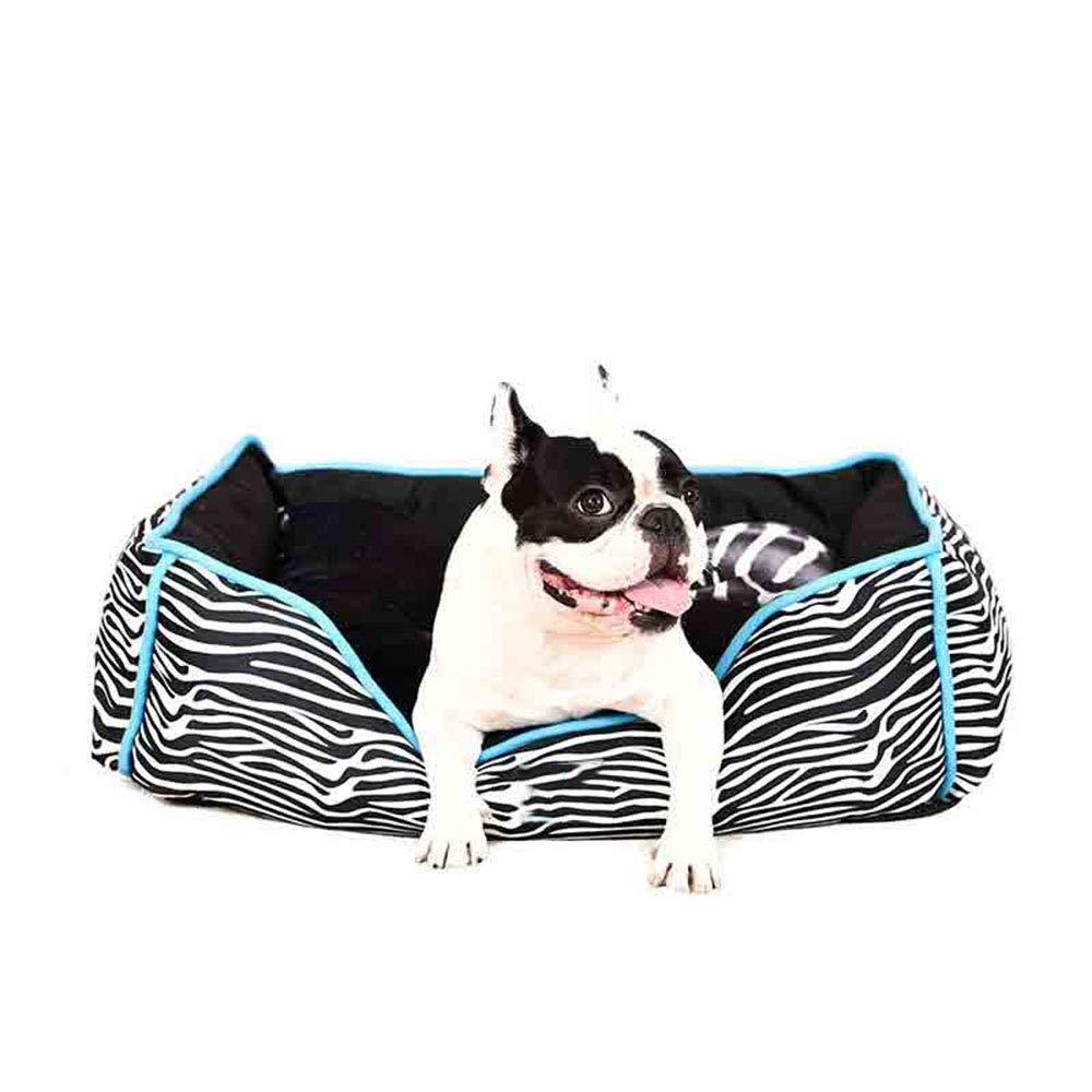 Black Small Black Small Pet nest mattress short plush PP cotton soft kitten puppy small animal (color   BLACK, Size   S)