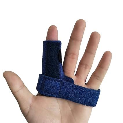 rosenice – Férula para dedo ajustable apoyo de los dedos contreventement  para aliviar el bloqueo de 980a57385a66