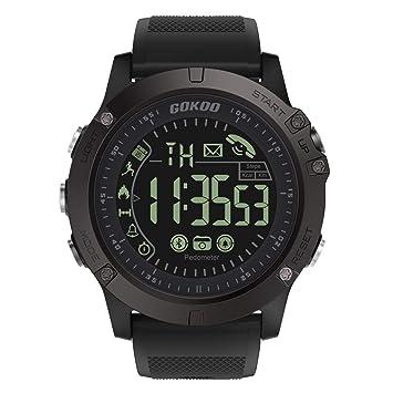 GOKOO Montre Connectée Homme Sport Smartwatch Montre Intelligente Étanche IP67 Bluetooth Tracker dActivité Podomètre