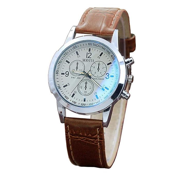 Amazon.com: WEUIE - Reloj de pulsera para hombre, ultrafino ...