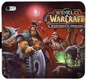 Generic Custom Flip Wallet Case,World Of Warcraft Grommash Hellscream Leather Case for iPhone 5 5S SE Black S-45131836