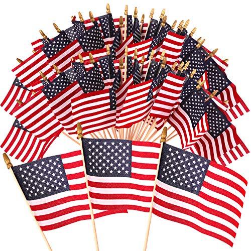 American Small Flag (Kangaroo Hand Held American Flags w/Sticks (100-Pack) 4