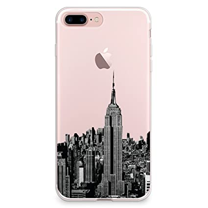 72e35fb094 CasesByLorraine iPhone 8 Plus Case, iPhone 7 Plus Case, New York City View  Clear