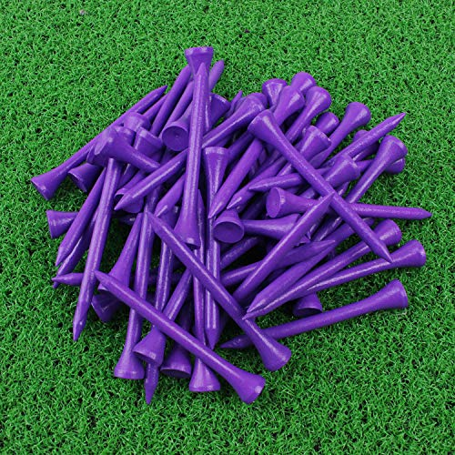 2.75 Inch Golf Tees - Crestgolf Golf Tee 2-3/4 inch Deluxe Tee Pack of 100 (Purple)