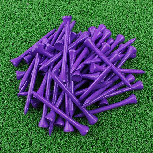 Crestgolf Golf Tee 2-3/4 inch Deluxe Tee Pack of 100 (purple) ()