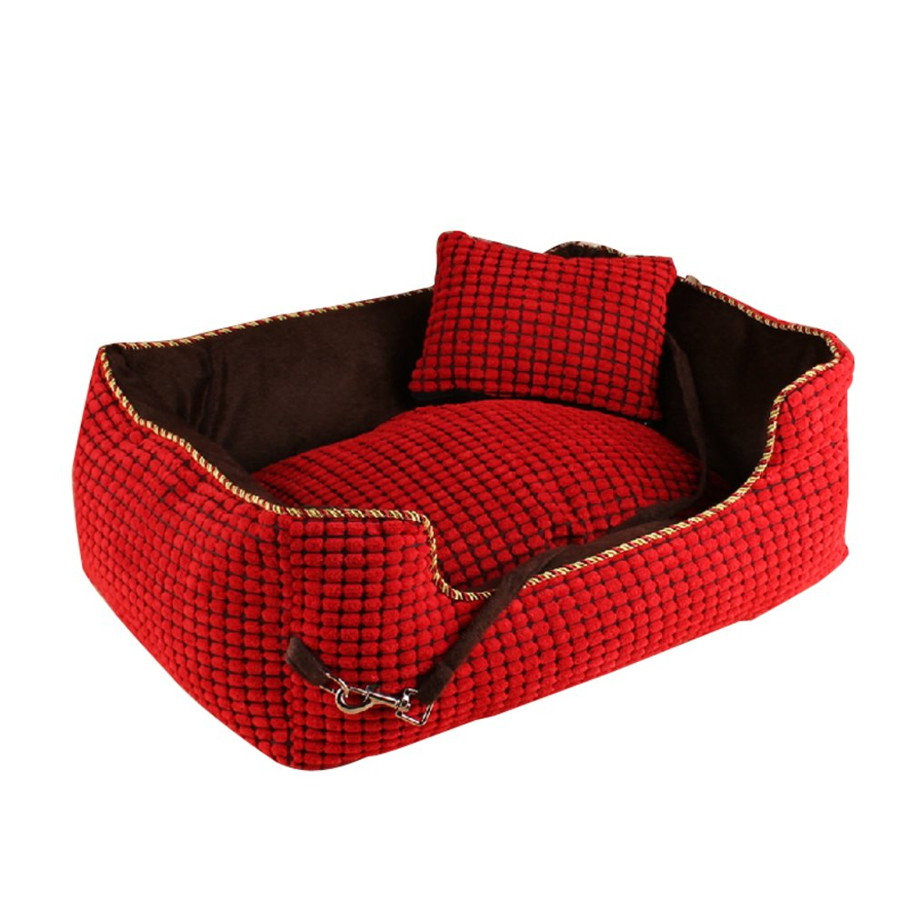 45x35cm(18x14inch) Washable pet Autumn and winter warm thick kennel large dog cushion-A 45x35cm(18x14inch)