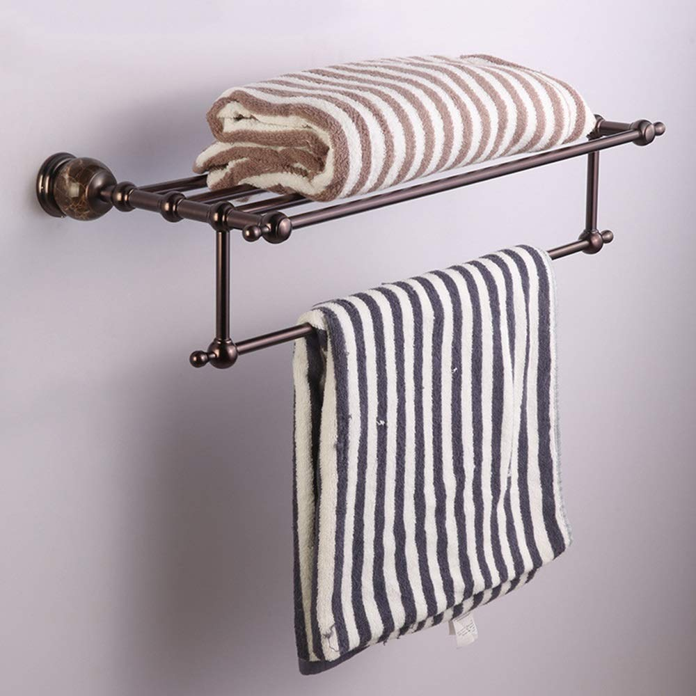 ETH European Retro Copper Towel Rack Hotel Bathroom Bathroom Double Towel Bar Bathroom Pendant Rack Durable by ETH