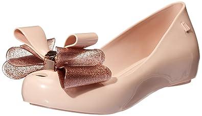 f367614bb1e5 Melissa Women s Ultragirl 20 Triple Bow Plastic Flat Rose Glitter   Amazon.co.uk  Shoes   Bags