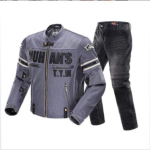 HXA Traje de Motociclista Impermeable de 2 Piezas para Hombre ...