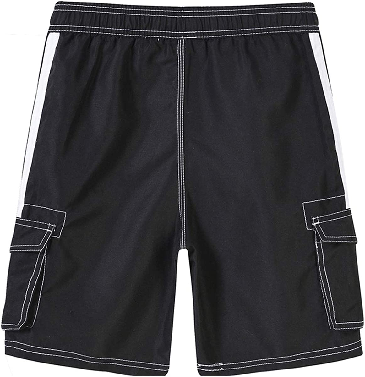 Akula Boys Quick Dry Swim Trunks Beach Board Shorts with Mesh Lining