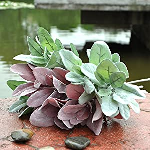 FYYDNZA Top Quality Artificial Plants Silk Flowers Spray Acorn Leaf Green Trees Fake Plants For Garden Decorations 64