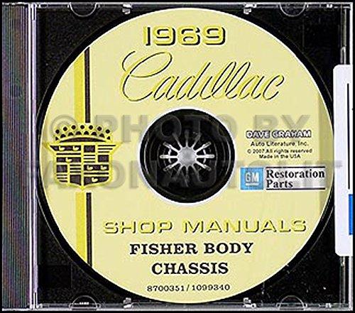 1969 Cadillac CD-ROM Repair Shop Manual, Body Manual, and Parts Book (Repair Cadillac Parts)