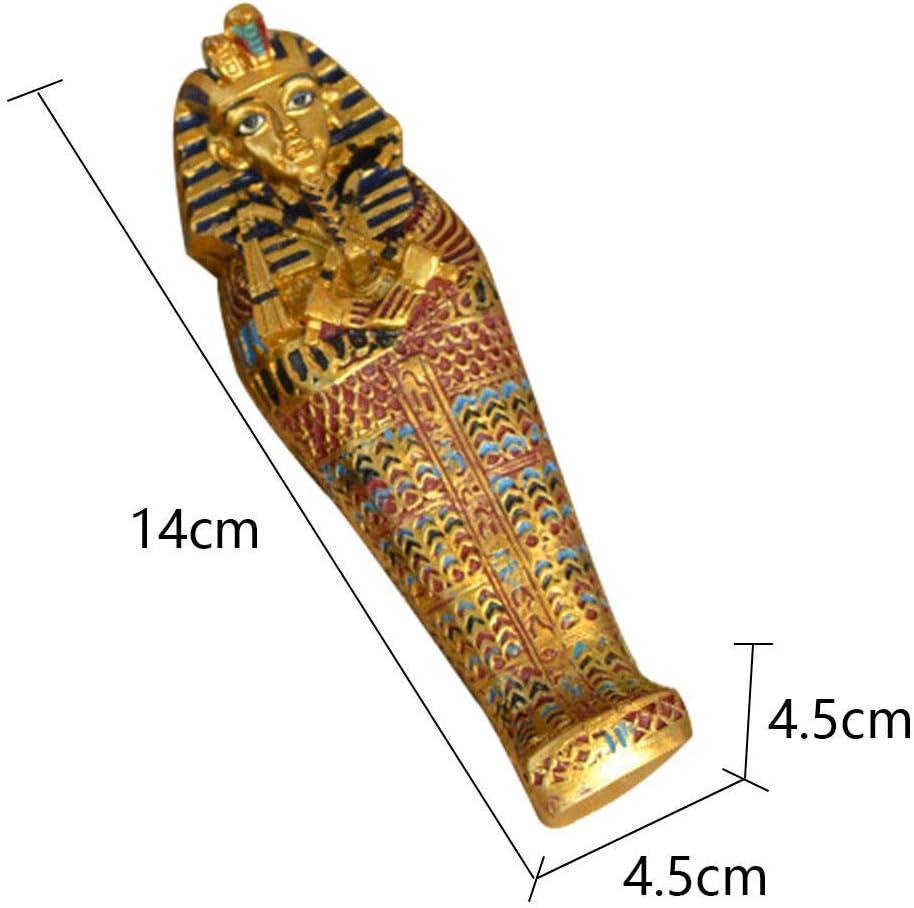 GOLDEN PHARAOH sceptres 48cm Accessorio per Tutankhamon Egiziano Antico Re Fan