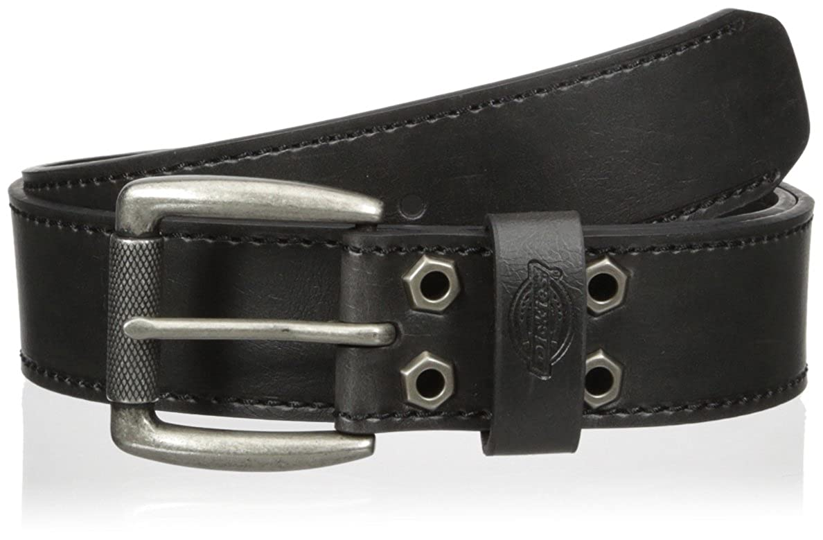 Dickies Mens Leather Belt with Bolt Embellishments