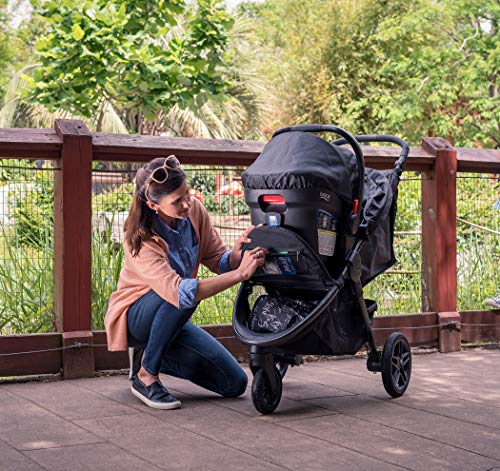 61p6uOL6EoL - Britax B-Free Travel System With B-Safe Ultra Infant Car Seat - Birth To 65 Pounds | All Terrain Tires + Adjustable Handlebar + Extra Storage With Front Access + One Hand, Easy Fold, Vibe