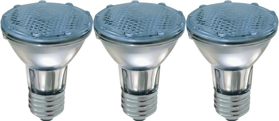 GE Lighting Reveal Halogen 76413 35-Watt, 270-Lumen PAR20 Floodlight Bulb with Medium Base, 3-Pack