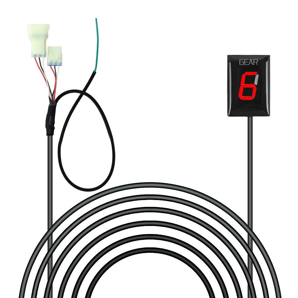IDEA Indicador de marchas impermeable para motocicleta, conectar y usar, con luz LED roja