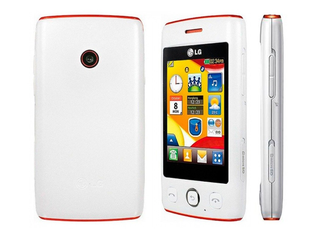 Amazon.com: LG Cookie Lite T300 Unlocked GSM Touchscreen Cell Phone -  White/Orange: Cell Phones & Accessories